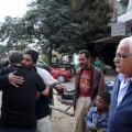 Mohamed Abbas, verkiezingskandidaat op campagne in Nasr City.