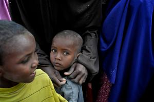 Boy and his family had to flee from the tread of Al shabaab in Somali.